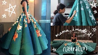 I MADE & PAINTED MY SENIOR PROM DRESS | Ciara Gan thumbnail