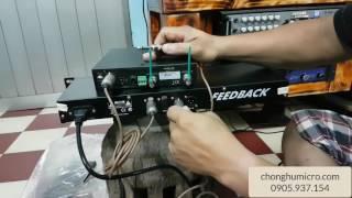 Hướng dẫn gắn dây chống hú Feedback XTR 2.0 cho Amply và Mixer