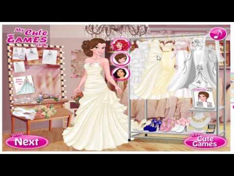 เกมส์แต่งตัว เจ้าหญิงแต่งตัวเป็นเจ้าสาว Disney Wedding Fashion Week ♡seamay♡
