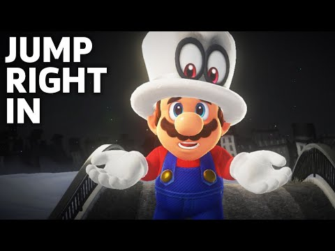 Super Mario Odyssey's New Area - The Cap Kingdom Gameplay