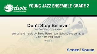 Don't Stop Believin', arr. Paul Baker – Score & Sound