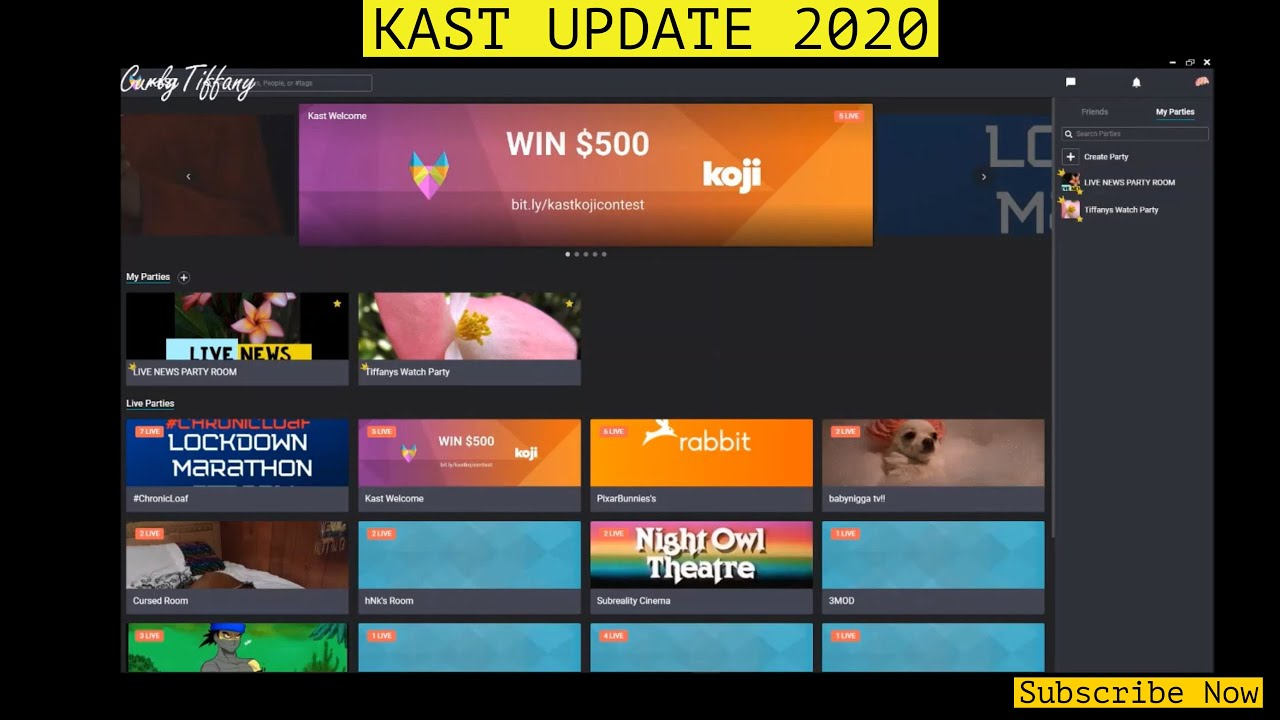 How To Use Kast Desktop App Stream Update May 2020 Create A Party Chat Update Youtube