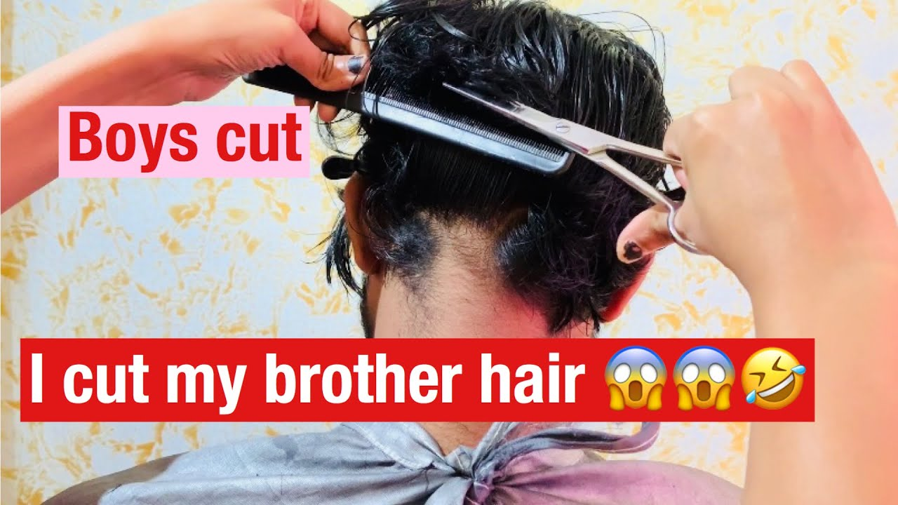 Boys haircut 💇♂️  I Cut My BROTHER Hair💇♂️😱😱😱 for 12st time see  what happened 😱😱🤣