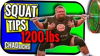 Powerlifting Back Squat Technique for Athletes and Coaches | Chad Aichs Shows How to Squat 1000 lbs