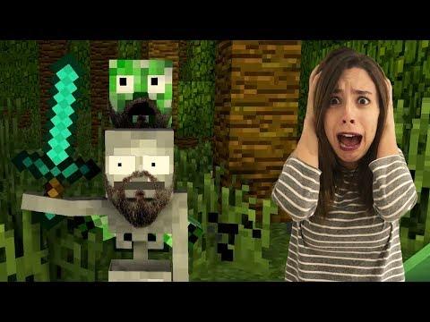 LA ESCUELA DE MONSTRUOS Y LA VENGANZA DE LA ABUELA | Minecraft Animación: Video Reacción