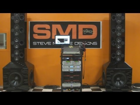 WORLD'S LOUDEST SHOP SYSTEM? - SMD 8 FOOT TALL SPEAKER TOWERS