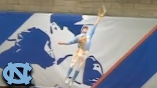 UNC's Brian Miller Makes Leaping Grab At The Wall