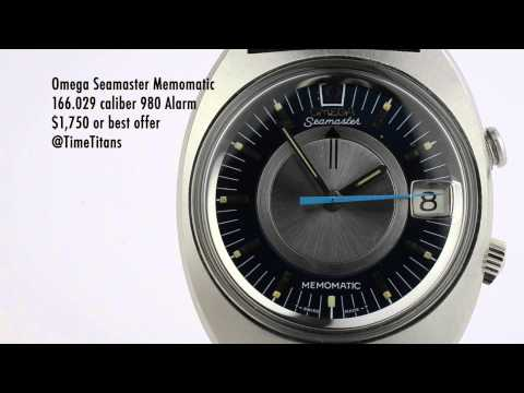 Omega Seamaster Memomatic 166.029 XL Case 40MM Original Polish Cal. 980 Alarm