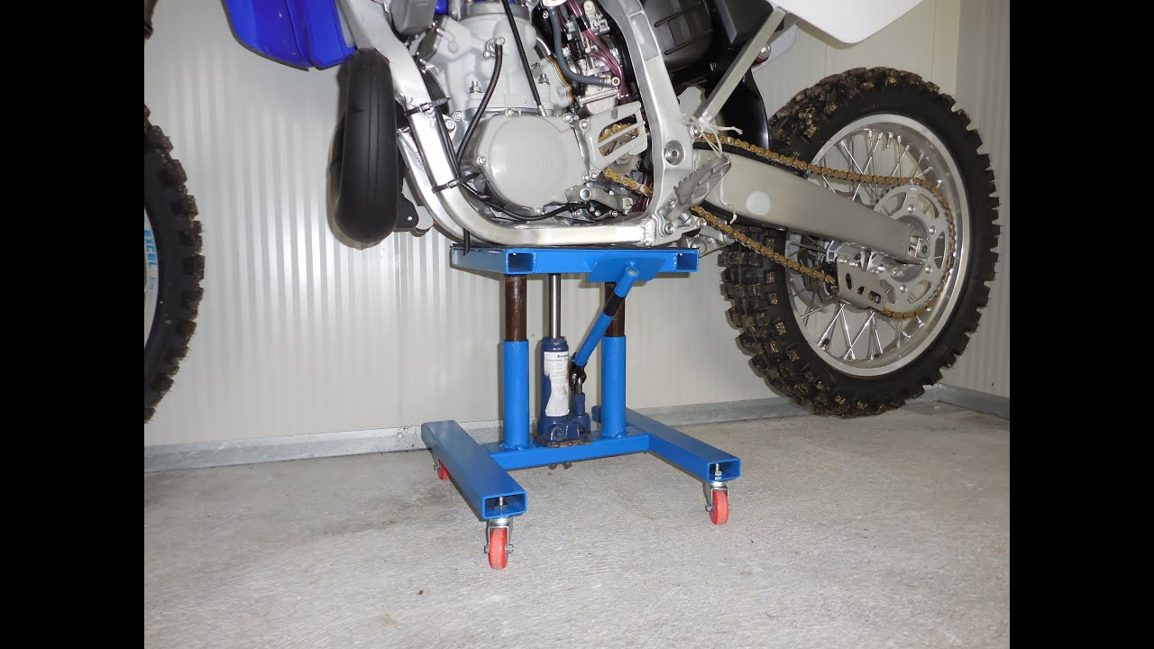 Alzamoto girevole fai da te homemade mx lift stand youtube for Cavalletto alzamoto fai da te