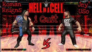 WWE Mayhem Roman Reigns Vs Jey Uso at Hell in the Cell PPV 2020 | Universal Championship Match |