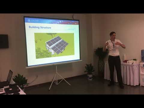 Presentation about our transportable Zero Energy Building in Wuhan, August 2018