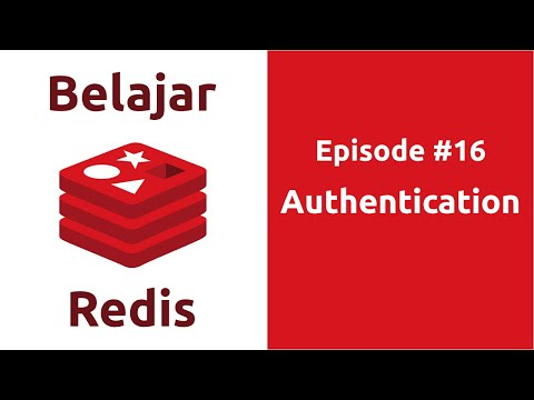 Belajar Redis - 16 Authentication - YouTube
