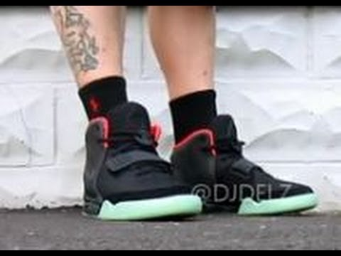new arrival 81d37 2ffa9 Nike Air Yeezy 2 Black Solar Red Sneaker HD Review + On Feet With  DjDelz -  YouTube