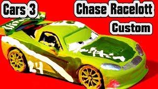 Pixar Cars 3 Lightning McQueen Custom Diecast Jeff Gorvette to Chase Racelott  Cars Learn Colours