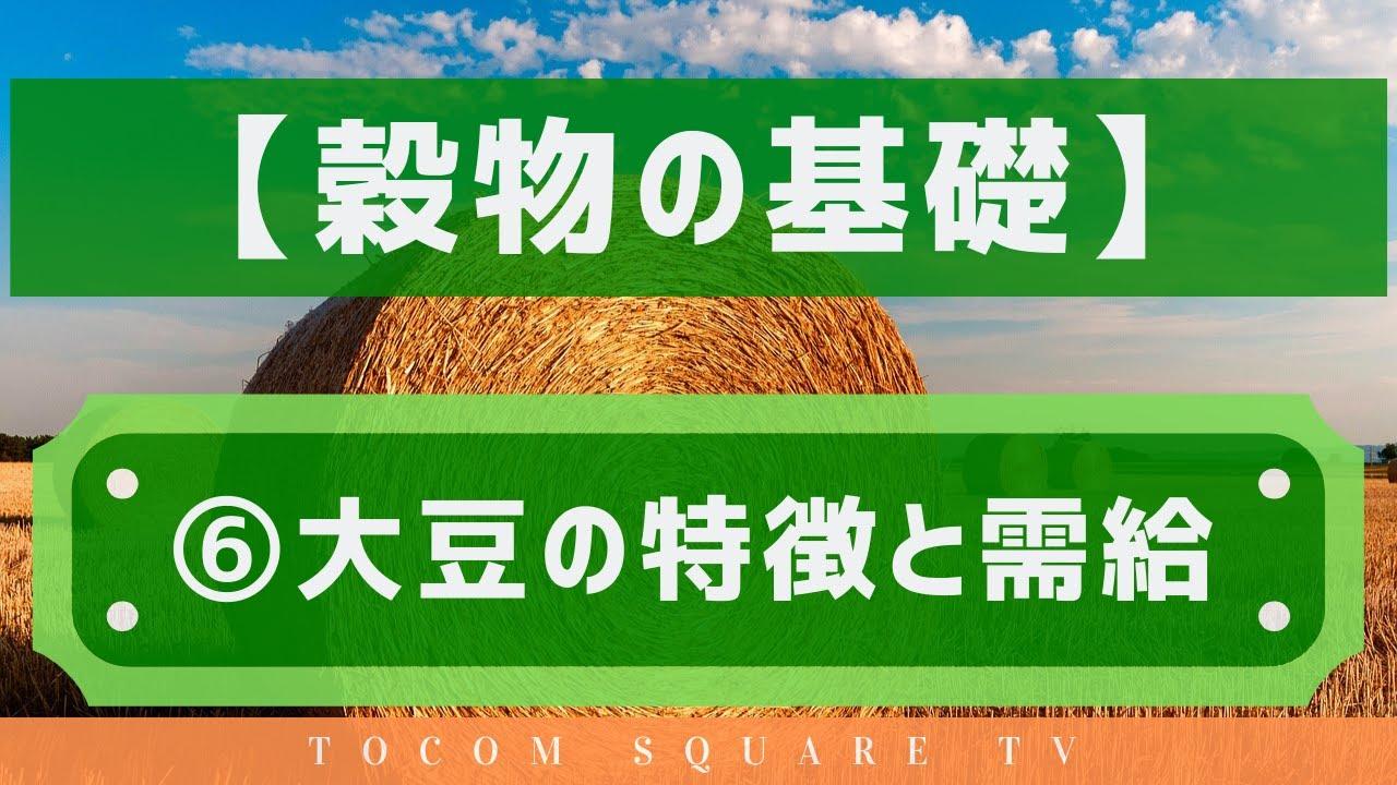 穀物の基礎知識⑥大豆の需給と特徴「TOCOMスクエアTV」商品先物相場展望
