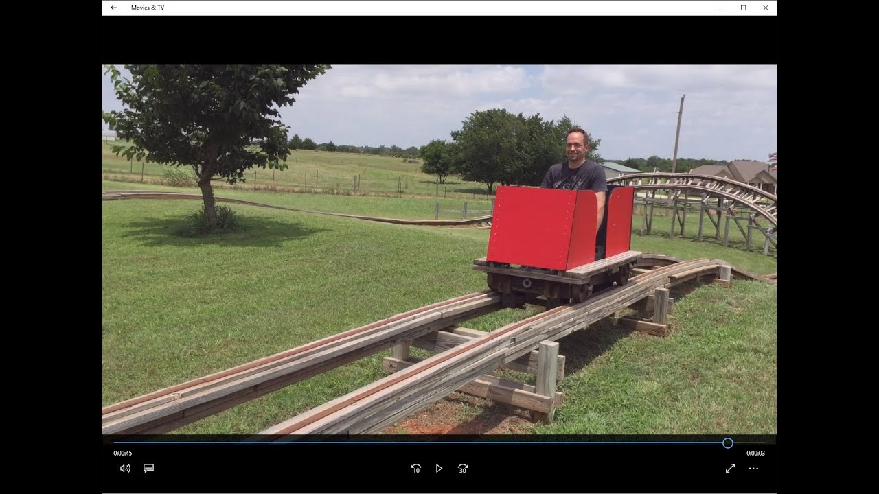 oklahoma land run backyard roller coaster hd youtube