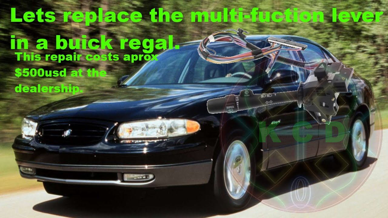 how to change a multi function  turn signal  lever in a 2000 buick century wiring harness diagram buick century wiring diagram steering column