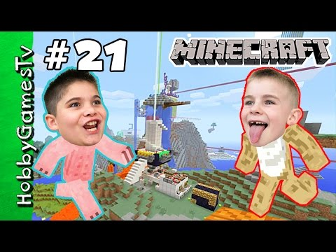 HobbyKids Minecraft 21 Creative World Home Tour HobbyGamesTV