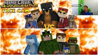 Minecraft - Donut the Dog Adventures -FIRST EVER FACE CAM BATTLE w/THE LITTLECLUB!!!!