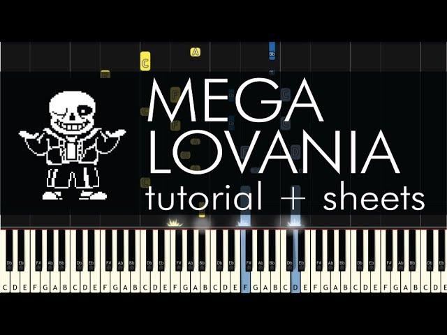 Undertale Megalovania Piano Tutorial Sheets