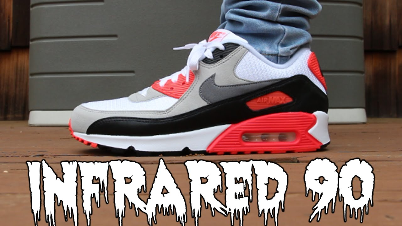 686c30682c INFRARED AIR MAX 90 PICK-UP    ON FEET! - YouTube