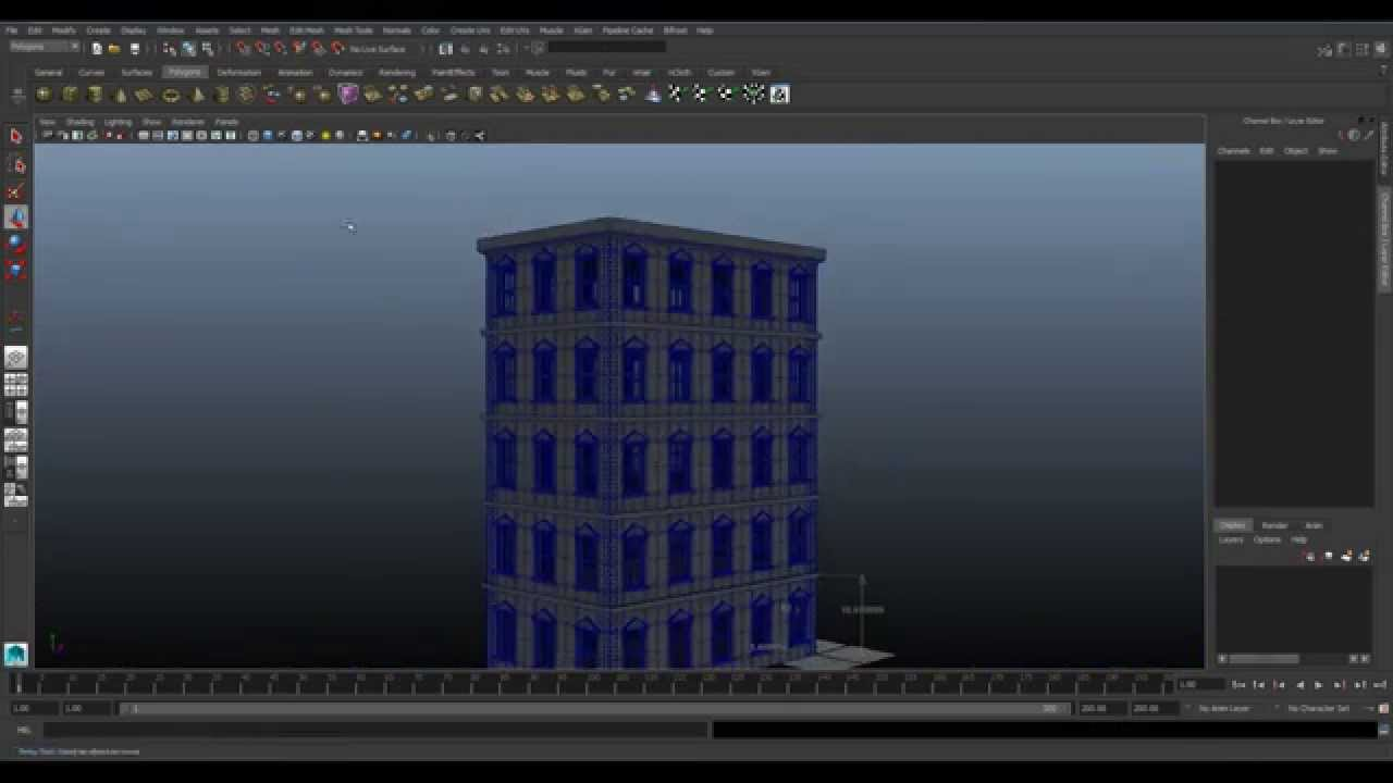 Maya house modeling tutorial