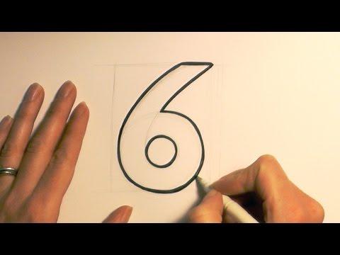 Как нарисовать красиво цифру 6