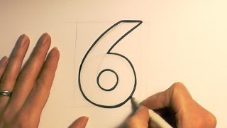 How to Draw a Cartoon Number 6
