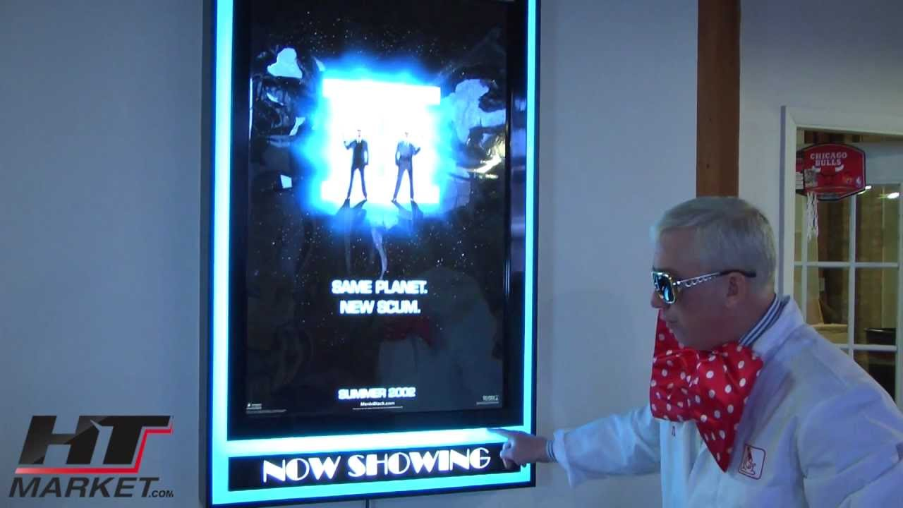 movie poster frame with lights halo light effects