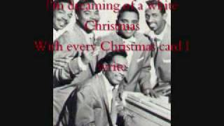 White Christmas by The Drifters with lyrics