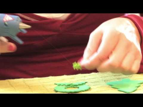 Christmas Crafts How To Make Craft Foam Christmas Ornaments