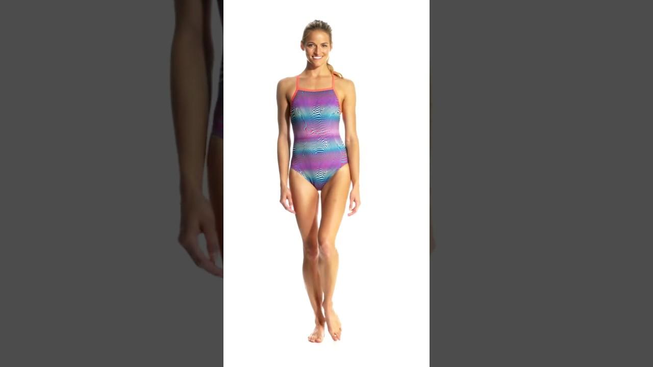 8f1cb9c867f7a Speedo Flipturns Women's Play Daze Propel Back One Piece Swimsuit |  SwimOutlet.com - смотреть онлайн на Hah.Life