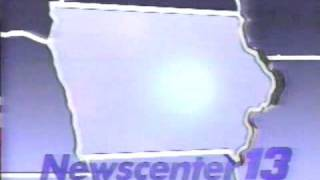 newscenter 13 6pm news open who tv des moines 1987