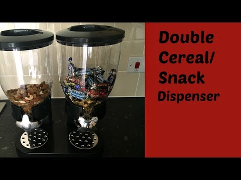 Double Cereal/Snack Dispenser Review