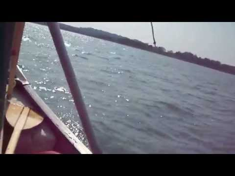 Trying to sail a canoe with a broken lee board 2015