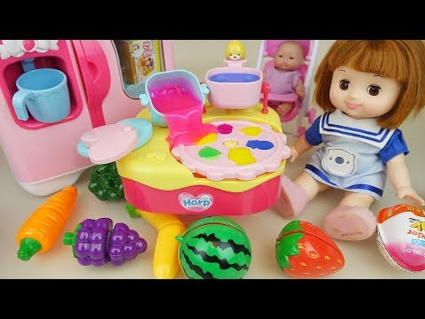 Baby Doli and fruit jelly maker toys with Kinder joy baby doll play