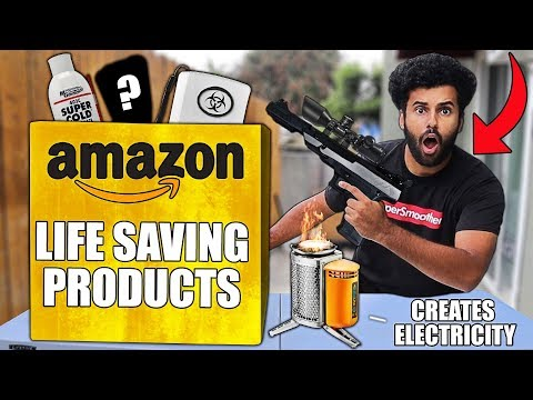 I Bought 5 SURVIVAL PRODUCTS That Amazon Claims Will SAVE YOUR LIFE!! *DOOMSDAY PREPPERS*