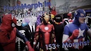 Morphsuits biggest ever FlashMorph. 153 Morphs in Frankfurt