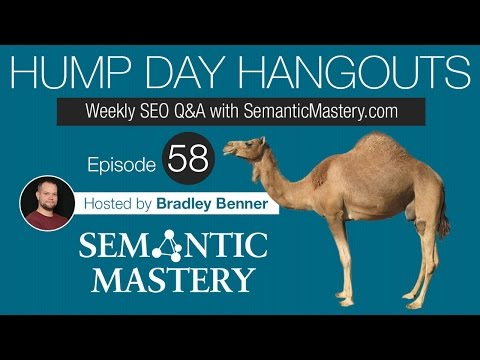 Weekly SEO Q&A - Hump Day Hangouts - Episode 58 Replay