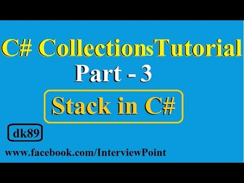 C#.Net Collections Tutorial Part-3 | Stack in C# Collections