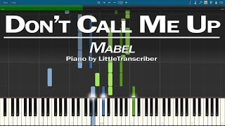 Mabel - Don't Call Me Up (Piano Cover) Synthesia Tutorial by LittleTranscriber