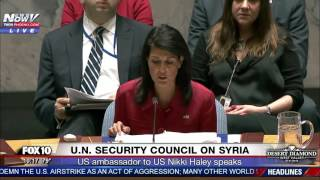BREAKING: Nikki Haley on Syria Strikes, Says Russia Was Supposed to Remove Chemical Weapons (FNN)