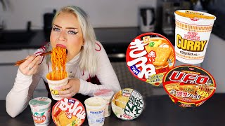 German girl tries & rates the most popular Instant Ramen in Japan
