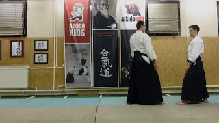 gyakuhanmi katatedori kokyunage 1st variation [TUTORIAL] Aikido empty hand technique: