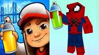 Subway Surfers TRICKY vs MINECRAFT SPIDER-MAN Gameplay HD