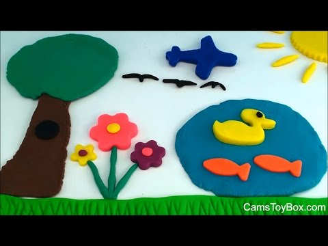 How to Create Play doh Picture Park Scene Fun Creative Playdough Ideas for Kids Playing