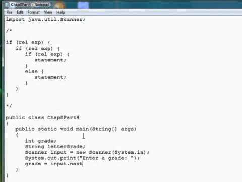 java tutorial nested ifelse statements youtube