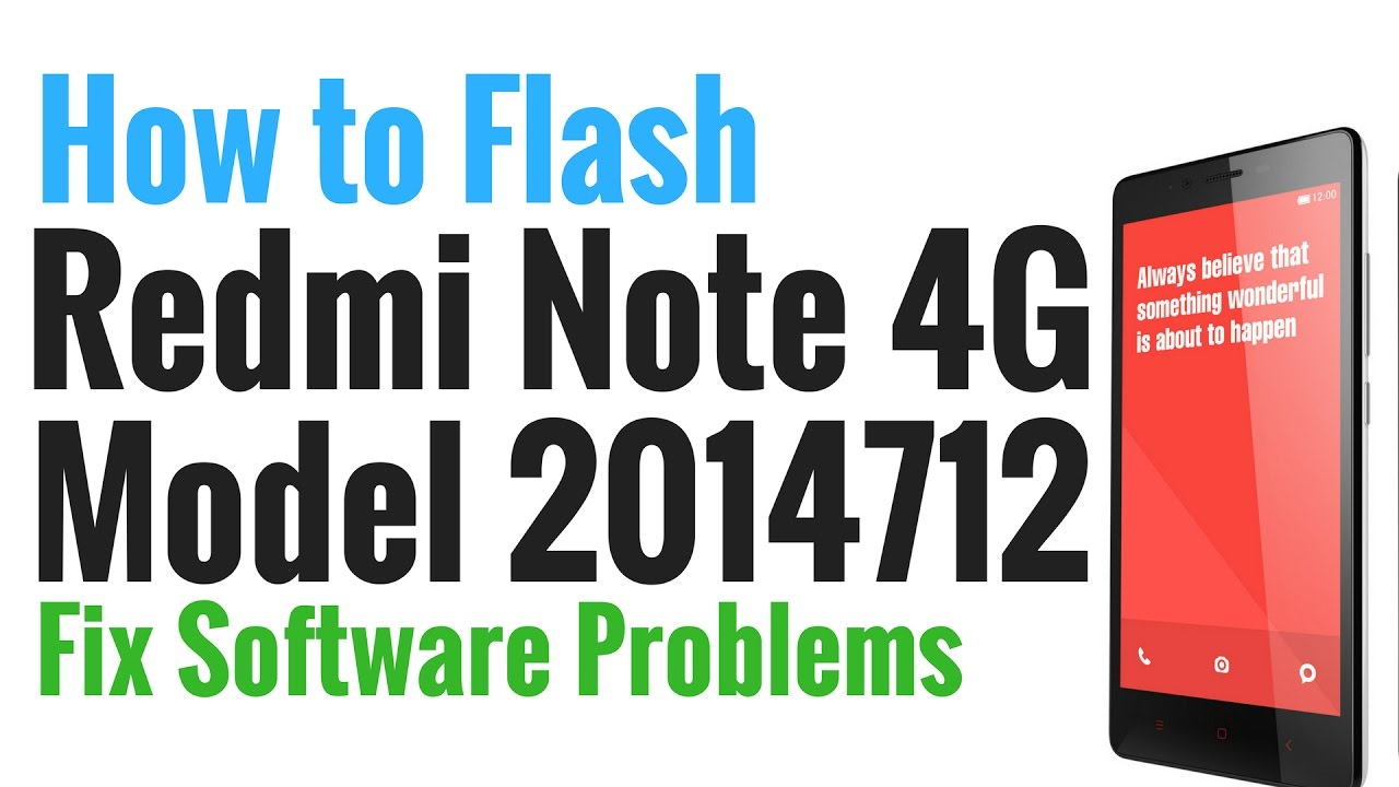 Redmi Note 4G Model 2014712 Flash done with Mi Flash tool by GsmHelpFul