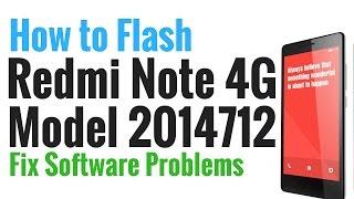 Redmi Note 4G Model 2014712 Flash done with Mi Flash tool by GsmHelpFul
