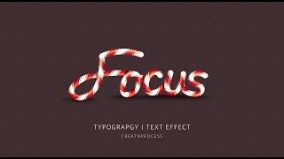 Typography | Text Effect | Adobe Illustrator | Focus ( part 1 )